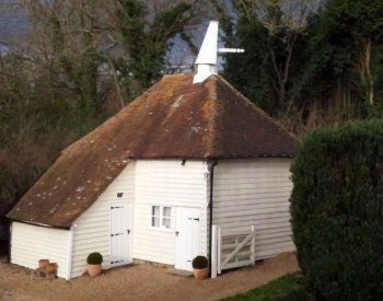 Little Golford oast at Godwin House