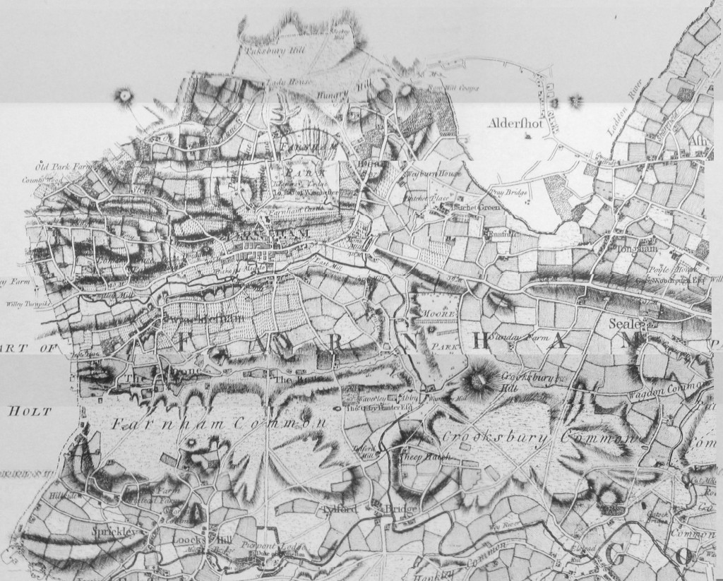 Rocque map of Farnham 1768