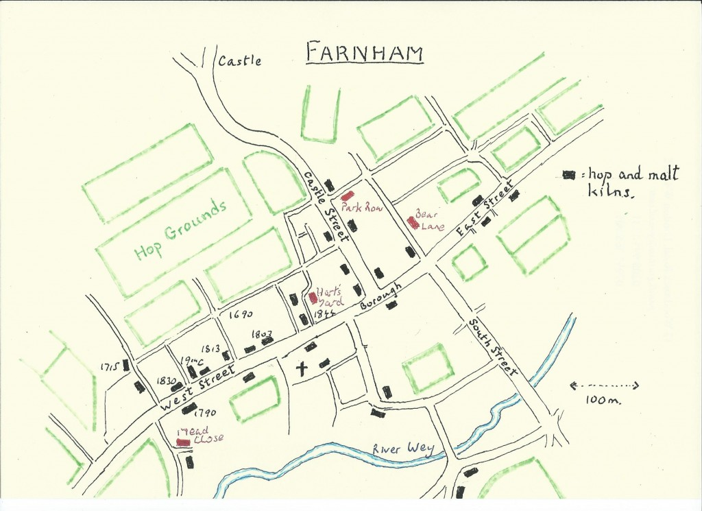 PG Farnham map